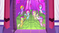 Main ponies in the stained glass as heroes S2E2.png