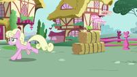 Millie running away from living apple S9E23