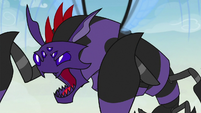 Monster Pharynx roars at the maulwurf S7E17