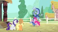 Pinkie Pie hugs Discord S4E11
