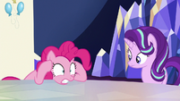 Pinkie Pie in complete disbelief S6E25