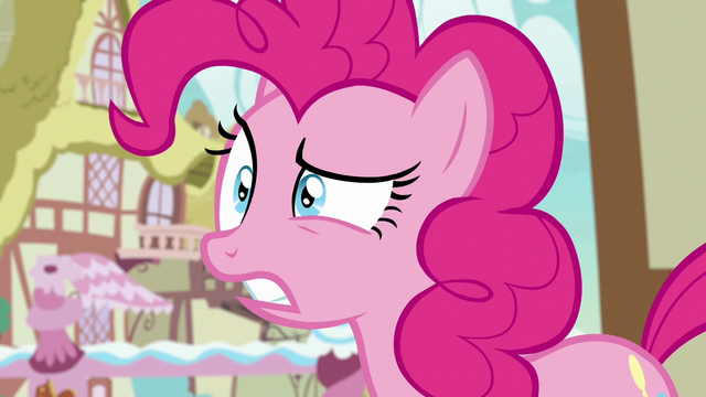 File:Pinkie Pie surprised over Rarity's announcement S7E9.png