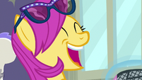 Pursey Pink making a haughty, airy laugh S8E4