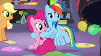 Rainbow -across Equestria to plan one party-- S5E11