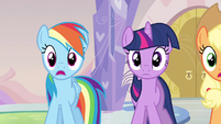 Rainbow Dash pretty much horrified S3E12