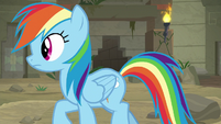 Rainbow follows Daring in the temple S9E21