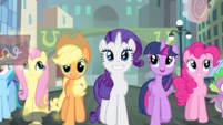 Rarity and friends all happy S4E8