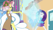 Rarity shields herself against Vignette's phone EGROF