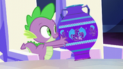Spike picks up a Crystal Empire vase S6E1