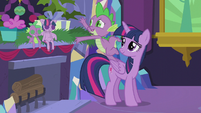 Spike reaching for a present S5E20