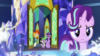 Sunburst sees Starlight in the throne room S8E8