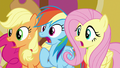 AJ, Dash, and Fluttershy gasping S8E24.png