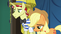 Applejack and Flim feeling like failures S6E20