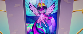 Close-up on Twilight's stained glass window MLPTM