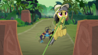 Daring Do flying up the temple stairs S9E21