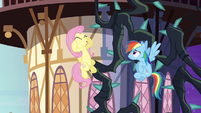 Fluttershy freaking out S4E01