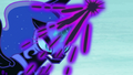 Nightmare Moon gathers black magic to her horn S7E10.png