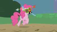Pinkie Pie in a goofy disguise S1E05