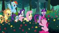 Pinkie Pie rolling in the rose bushes S8E13