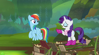 "Rarity ""fly up there and get that amulet!"" S8E17"