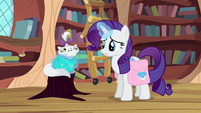 Rarity wraps Opal in a blanket S03E11