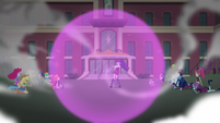 Sci-Twi surrounded by a purple ball EG3