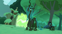 """Rainbow Dash"" transform into a changeling S5E26"