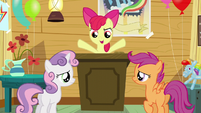 "Apple Bloom ""figure out how to get two more cutie marks"" S5E4"