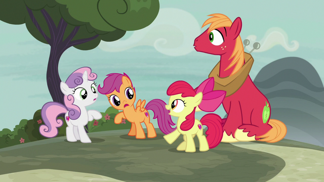 "File:Apple Bloom ""we should've been thinking about"" S7E8.png"