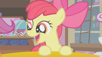 Apple Bloom talking to her new friends S1E12