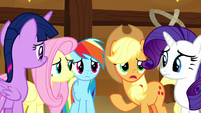 "Applejack ""obviously still miserable"" S8E18"