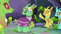 Changeling 1 raising his hoof S7E17.png
