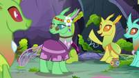 Changeling 1 raising his hoof S7E17