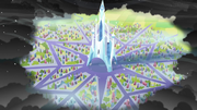 Crystal Empire surrounded by King Sombra