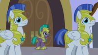 Guard Chrysalis tells guards to open door S9E17