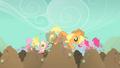 Pinkie Pie Fluttershy Applejack diggy hole S01E19.png