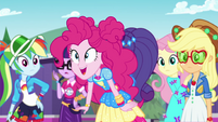 Pinkie Pie calling out to Sunset Shimmer EGSBP