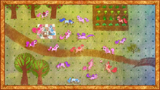 Berkas:Ponies playing in Daytime S01E01.png