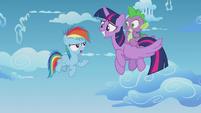 Rainbow Dash --that wouldn't really be fair-- S5E25