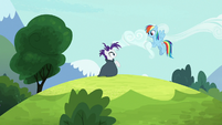 Rainbow Dash gathers clouds for Rarity S7E19