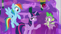 Rainbow Dash looking embarrassed S8E16