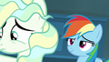 Rainbow Dash looking smug behind Vapor S6E24.png