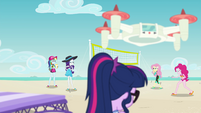 Rainbow and Rarity vs. Fluttershy and Pinkie EGFF