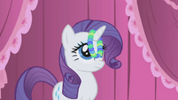 Rarity with pearls hanging from her horn S1E03