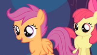 Scootaloo 'We'll skip to my big impressive flying entrance' S4E05