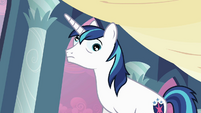 Shining Armor spinning eyes S2E25