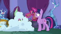Spike covered in fire-retardant foam S8E11