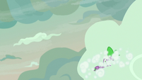 Spike falling into the clouds S9E9