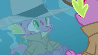 Spike seeing his reflection in the water S8E11