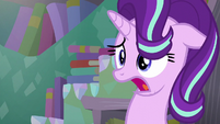 Starlight takes a breath in the middle of her talking S6E2